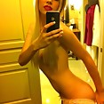 Sexy emo chick self shoots nude with her new iphone - image