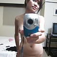 Cute and lonely self shot asian nude girl friend - image