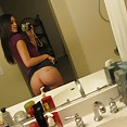 Perfect tits on this self shot mirror teen - image