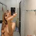 Busty blonde gf naked in both self shot and candids - image