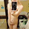 Nearly perfect self shot blonde mirror girl naked - image