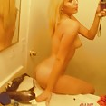 Stunning young blonde does some perfect mirror shots - image