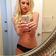 Gorgeous blonde iphone mirror selfies - image