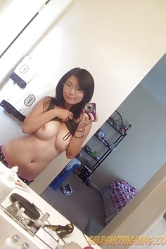 Sweet looking asian cant help showing off her boobs