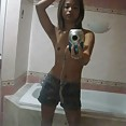 Cute asian girl goes nude in these amazing mirror pics - image