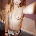 Perfect blonde teen Lilianna from Russsia showering - image