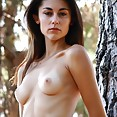 Skinny babe with white skin and very perky young breasts - image