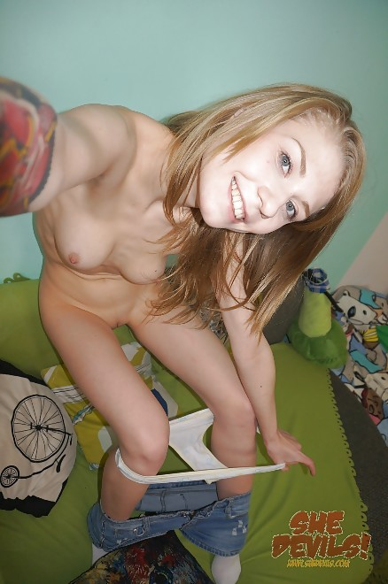 Freaky blonde emo chick is eager to jump on that ramrod 10