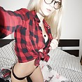 Scorching hot new nerd girl Erica - image