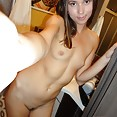 Skinny young and naked in the bathroom - image